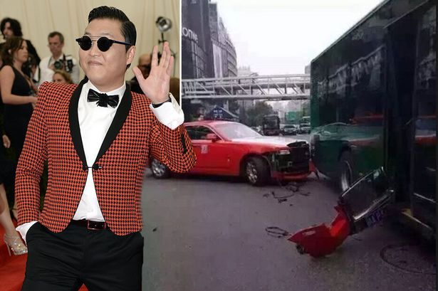 "The ""Gangnam Style"" singer Psy had a car accident"