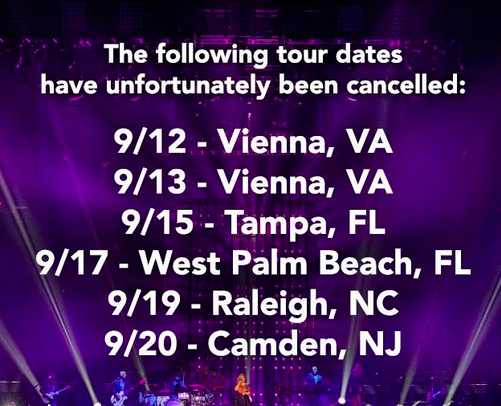 Bad news: Kelly Clarkson cancels tour dates