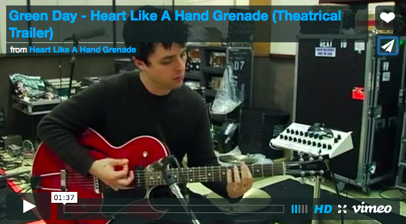 "Green Day Releases ""Heart Like A Hand Grenade"" trailer"