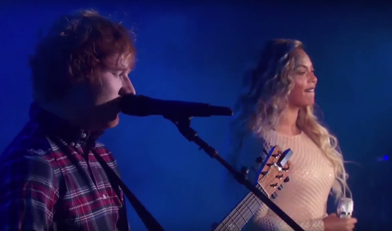 Beyoncé and Ed Sheeran together for the Global Citizen