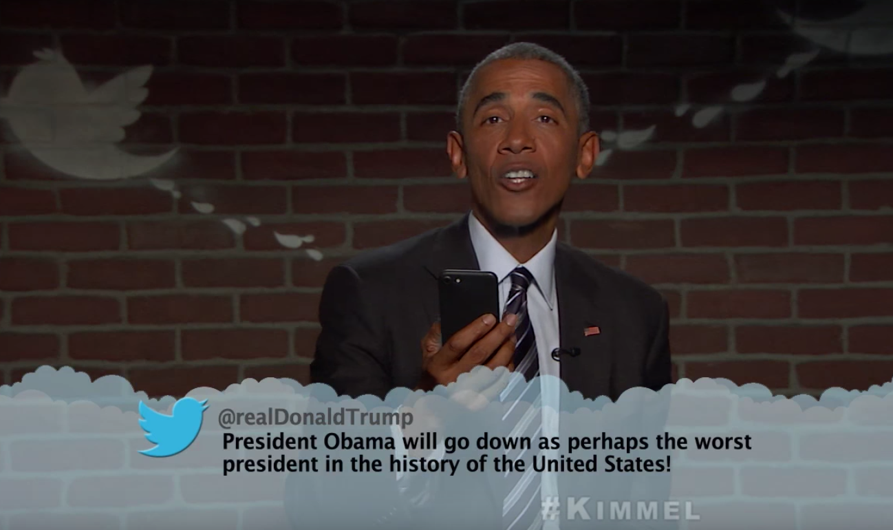 President Barack Obama Reads Mean Tweets… Again