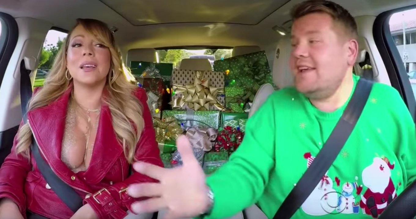 Christmas Carpool Karaoke with Mariah Carey