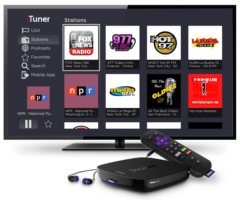 myTuner Radio is on Roku!