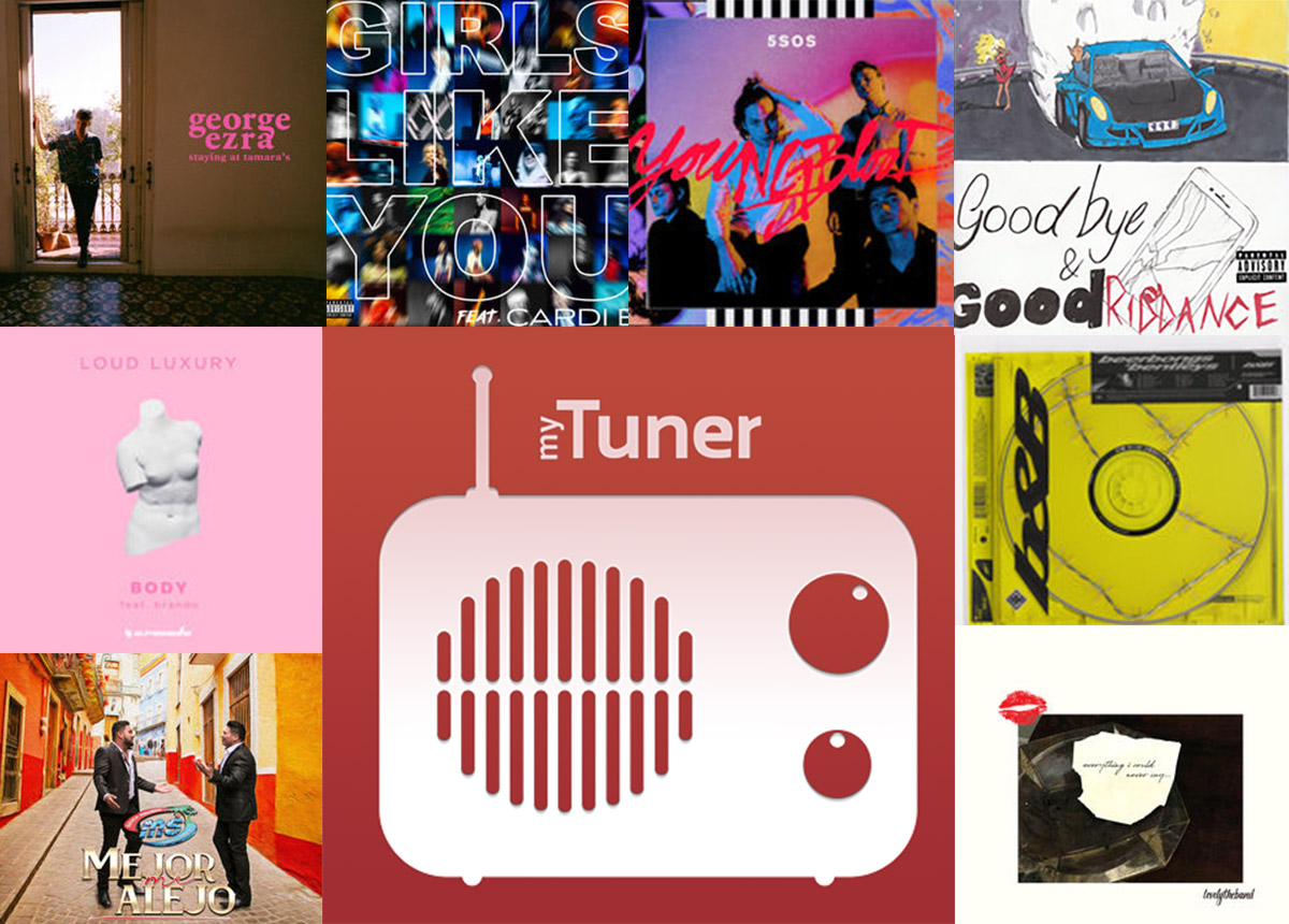 Most Played Songs on myTuner Radio in 2018